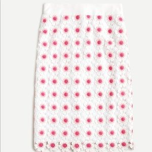 J. Crew Pencil skirt in floral crochet